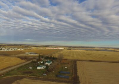 Aerial view of Hays installation